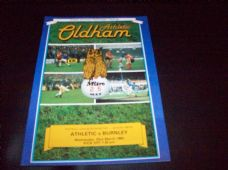 Oldham Athletic v Burnley, 1982/83